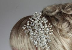 Tiara sidebandbridal headdresswedding by AnnieLaurieBridal on Etsy