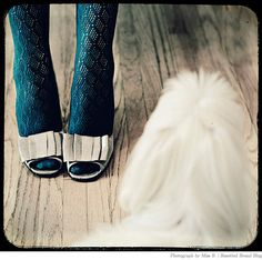 Pretty tights with open-toe shoes...cute (photo by Miss B.)!