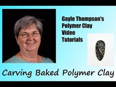 Carved Polymer Clay Pendant Tutorial by Gayle Thompson - YouTube