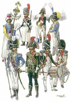 FRANCE - Imperial Guard, Regiment of Grenadiers, Head of Column, by Patrice Courcelle Military Art, Military History, Military Fashion, Empire, War Drums, Military Costumes, French Army, Napoleonic Wars, Troops