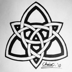 Celtic double Triquetra tattoo, not my original idea but this was freehand drawn...