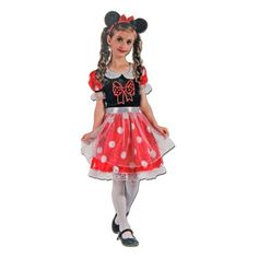 This girls Minnie Mouse costume will be a hit at your next dress up party. Includes: Dress Headpiece Sizing Ages: for Height: Chest: Waist: Ages for Height Chest: Waist: Ages for Height Chest: Waist: Childrens Fancy Dress, Minnie Mouse Costume, Fancy Dress Outfits, Snow White, Costumes, Disney Princess, Collection, Dresses, Girls