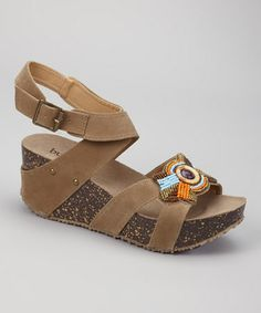 Another great find on #zulily! Taupe Lolo Wedge Sandal by Bucco #zulilyfinds