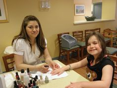 Manicures are a great way to share time, skills, and care with RMHDE families. So pretty!