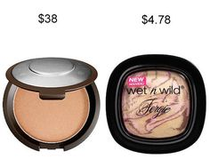 Try Wet n Wild's Shimmer Palette in Hollywood Boulevard instead of Becca Shimmering Skin Perfector in Champagne Pop to save about $33. | 19 Incredible Drugstore Makeup Dupes That Will Change Your Life