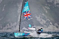 Ben Ainslie of Great Britain competes in the men's finn sailing
