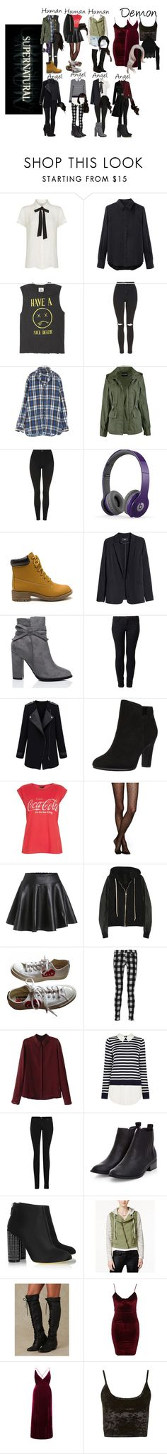 """""""Me in Supernatural"""" by demiwitch-of-mischief ❤ liked on Polyvore featuring Maje, rag & bone, Topshop, Beats by Dr. Dre, H&M, SpyLoveBuy, ONLY, Sam Edelman, New Look and Kate Spade"""