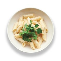 Creamy Roasted Garlic Penne Recipe   Martha Stewart  -  pasta with sauce, garlic, cheese, cream.  sounds good, balace it with veggies and protein.     lj