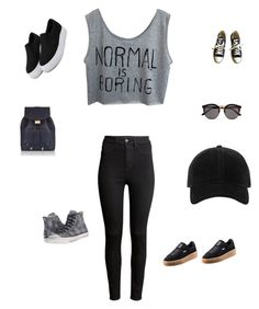 """""""Untitled #319"""" by selise-miles on Polyvore featuring Monsoon, H&M, Puma, Converse, Illesteva and rag & bone"""