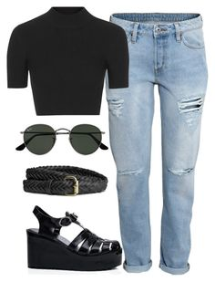 """""""Untitled #304"""" by juliamanasieva ❤ liked on Polyvore featuring H&M, Topshop and Ray-Ban"""