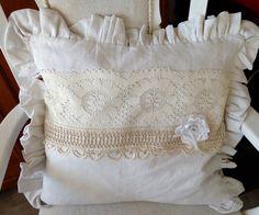 Kissen - Kissenhülle antik Shabby  - ein Designerstück von gittirai bei DaWanda