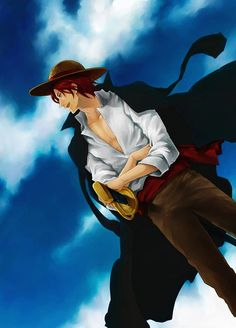 One piece - Shanks One Piece Fanart, One Piece Anime, Zoro, Anime One, Manga Anime, Red Hair Shanks, Es Der Clown, Watch One Piece, The Pirate King