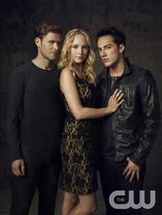 THE VAMPIRE DIARIES Pictured (L-R): Joseph Morgan as Klaus, Candice Accola as Caroline and Michael Trevino as Tyler.  Image Number: VD4_3Shot_Canvas_0748r.jpg. Photo Credit: Justin Stephens/The CW. � 2012 The CW Network, LLC. All rights reserved.pn