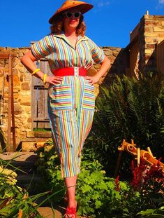 Now, this is what I'm talkin' about.  This lady and her husband have been wearing vintage clothing for twenty years.  Talk about devotion to style!  More at the link.