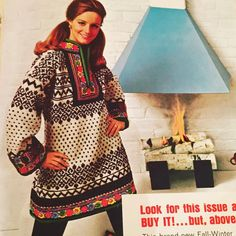 I'm voting for dresses like this to be the big knitting trend of 2016. Just think of the trim possibilities