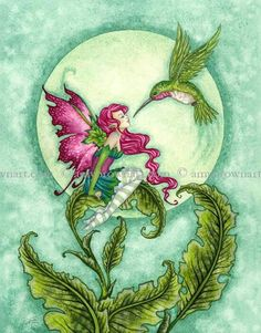 Fairy Art Artist Amy Brown: The Official Online Gallery. Fantasy Art, Faery Art, Dragons, and Magical Things Await. Unicorn And Fairies, Elves And Fairies, Flower Fairies, Fantasy Kunst, Fantasy Art, Dragons, Amy Brown Fairies, Kobold, Fairy Pictures