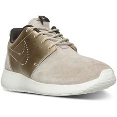 Nike Women's Roshe One Premium Suede Casual Sneakers from Finish Line (1,885 MXN) ❤ liked on Polyvore featuring shoes and sneakers