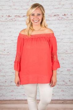 Attached to You Top, Coral