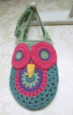 Owl Bag Crochet PATTERN PDF instant download por RuthMaddock, $4.50