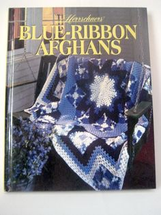 Herrschners Blue Ribbon Afghans Patterns Hardcover Book #Retro 90s #crochet #knit