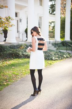 kate spade new york dress, cocktail dress, holiday dress, holiday cocktail dress, holiday outfit inspo, holiday outfit ideas, christmas party outfit, wrapped presents, gold wrapping paper, kate spade sunglasses // grace wainwright from a southern drawl