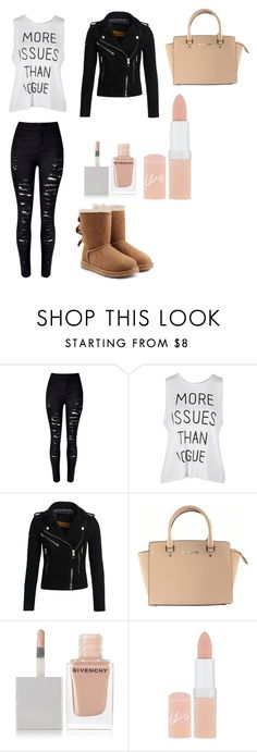 """Shopping Outfit (2)"" by millie-simpson on Polyvore featuring WithChic, Superdry, Michael Kors, Givenchy, Rimmel and UGG Australia"