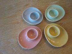 Pastel eggcups from figgjo flint