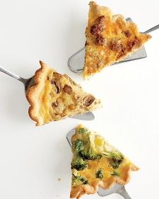 Love this recipe for quiche.  I have been making one per week since I got the December Everyday food issue.  So easy and you can use anything that you have lying around.  For V day I made an asparagus, onion, sausage, and mushroom quiche- it's already gone!