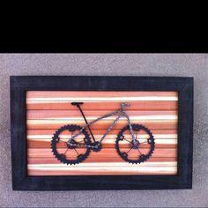 Custom bike art created by Joseph Stephenson