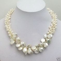Hot sale Free Shipping>>>>>White Akoya Cultured Pearl Necklace 18''