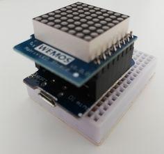 8x8 LED Matrix Shield auf Wemos D1 mini.