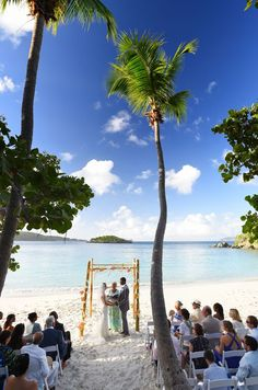 Gorgeous Beach Ceremony on Turtle Bay Beach, Caneel Bay Resort. Photo by: Blue Glass Photography. Visit caneelbay.com for more info!