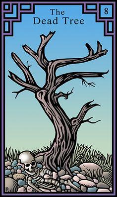 8 - The Dead Tree - Burning Serpent Oracle par Robert M Place & Rachel Pollack