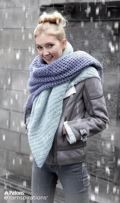 It's never too late to make a blanket scarf!