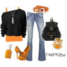 Love, love the orange! Great day Halloween outfit :))