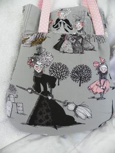 back of my purse  - just such cute fabric!!