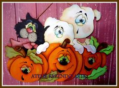 23 Most Popular Painting Decor Classes - Country Halloween, Halloween Ii, Halloween Painting, Halloween Signs, Halloween Season, Halloween Cards, Holidays Halloween, Halloween Themes, Happy Halloween