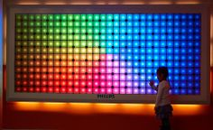 The Philips Imagination #Light Canvas at Birmingham Children's Hospital l #building #colour