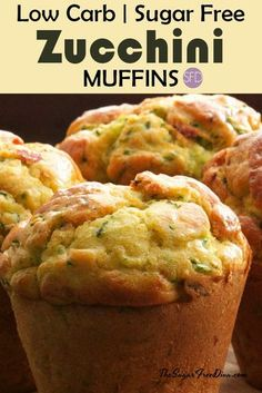 This is the recipe for Sugar Free Homemade Zucchini Muffins. There also recipe options to make these gluten free or even low carb as well. Diabetic Desserts, Sugar Free Desserts, Sugar Free Recipes, Diabetic Recipes, Gluten Free Recipes, Low Carb Recipes, Cooking Recipes, Diabetic Muffins, Sugar Free Pastries