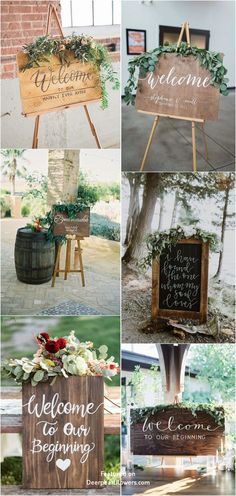 2019 Top 15 Must See Rustic Wedding Ideas---Rustic eucalyptus wedding signs, wooden wedding sign, diy wedding decorations cheap, summer or fall outdoor backyard weddings wedding decorations cheap outdoor Top 14 Must See Rustic Wedding Ideas for 2019 Cheap Wedding Decorations, Wedding Table Centerpieces, Flower Centerpieces, Tipi Wedding, Floral Wedding, Rustic Wedding, Wedding Ideas, Elegant Wedding, Dream Wedding