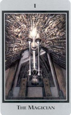 giger, swiss surrealist artist- from the baphomet tarot - der magier/the magician Xenomorph, Arte Horror, Horror Art, Hr Giger Art, Hr Giger Alien, Illusion Kunst, Arte Alien, Arte Obscura, Baphomet