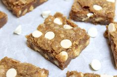 White Chocolate Biscoff Blondies - Kate's Sweets