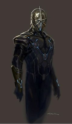 Andy Park's Awesome Concept Art For Guardians of the Galaxy- Nova Corpsman