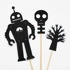 Have a go at making these cool shadow puppets. Templates provided.