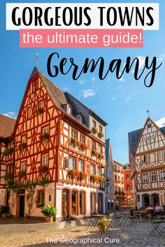 Planning a vacation in Germany? Germany is chock full of adorable storybook towns and villages. This is the ultimate guide to the 16 most beautiful towns in Germany. These quintessentially German villages will enchant you with medieval walls, cobbled streets, and pastel-perfect homes. These pretty German towns are must visit destinations in Germany. Many are UNESCO-listed. If you're looking for the bet things to do and see in Germany, read on! Germany Itineraries | What To Do In Germany
