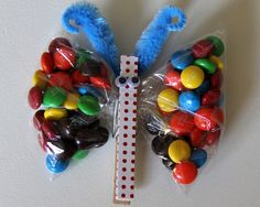 Butterfly M+M's Birthday Party Favours