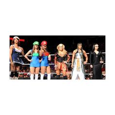 WWE Divas – October 31, 2011 Raw Results: No. 1 Contender's Divas... ❤ liked on Polyvore featuring costumes, wwe, wwe costumes, diva halloween costumes, wwe halloween costume and diva costumes