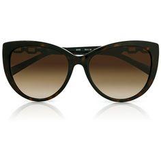 Michael Kors Gstaad Slim Cat Eye Sunglasses ($275) ❤ liked on Polyvore featuring accessories, eyewear, sunglasses, plastic glasses, sunnies, tortoise sunglasses e plastic wine glasses