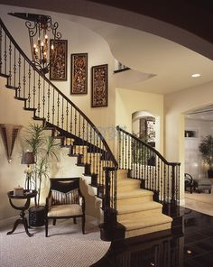 Architecture Staircase, Stairs, Entry, Home Living room, and family room. Livingroom Interior Design Furniture Stock Photo Image