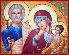 The Holy Family Icon Wall Plaque